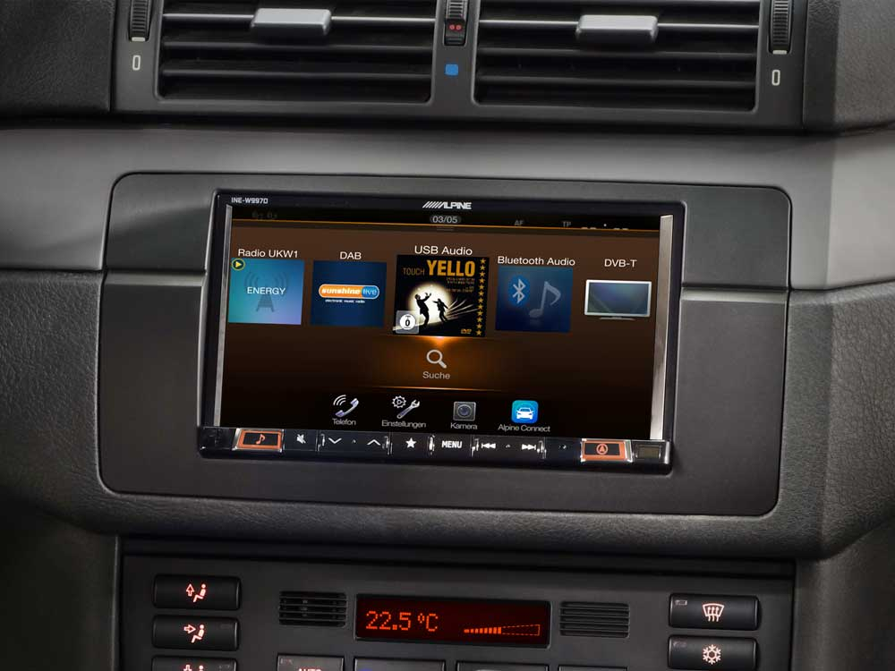 7-inch navigation system designed for BMW 3-series E46 - Alpine