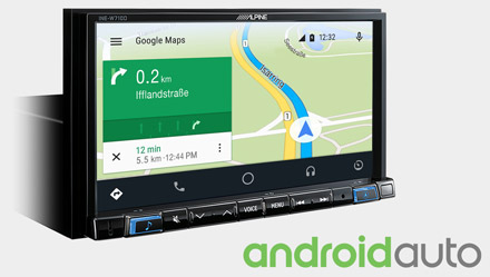 Online Navigation with Android Auto - INE-W710D