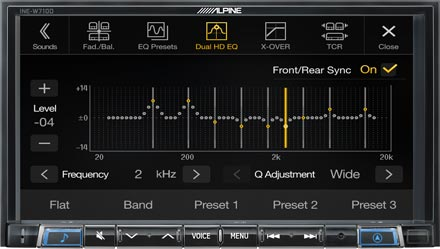High-end Sound Tuning Options - INE-W710DC