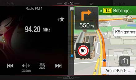 One Look Display - Split Screen Radio and Navigation - Alpine INE-W997E46
