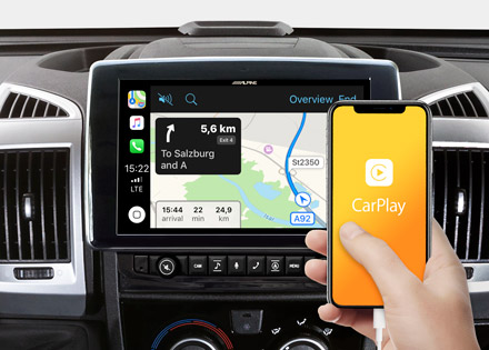 X903D-DU is compatible with both Apple CarPlay and Android Auto - X903D-DU