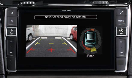 The Interface APF-X310MIB retains visual representation of Parking Sensors